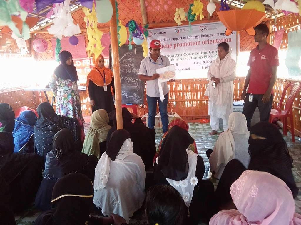 HYGIENE PROMOTION TRAINING AMONG ROHINGYA REFUGEES IN THE CAMPS
